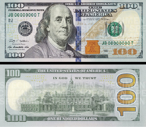 La nuova banconota da 100 dollari