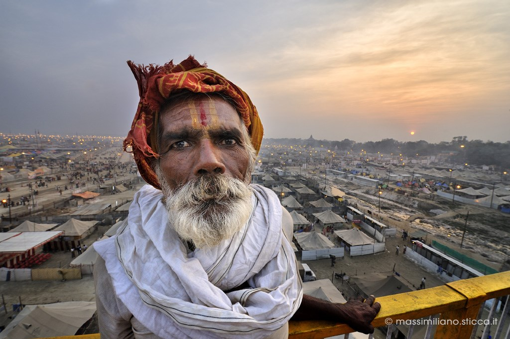 Pilgrim at Maha Kumbh Mela 2013, in Allahabad.