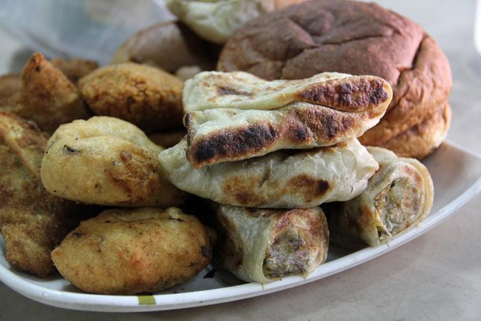 Fish and Vegetable Roti