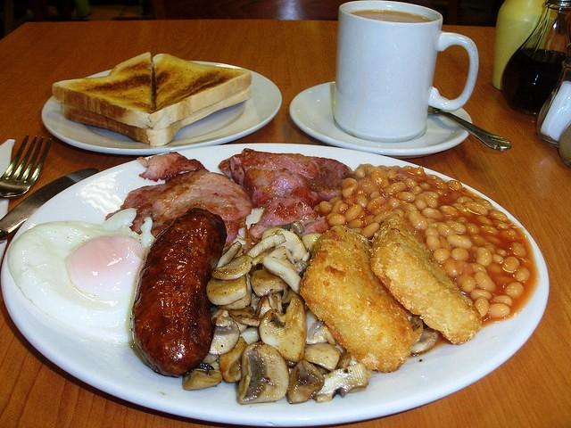 english breakfast cosa si mangia a colazione a londra?