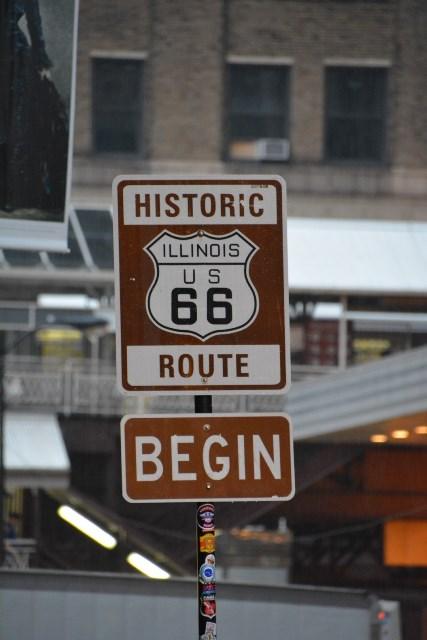 Inizio della route 66 a Chicago