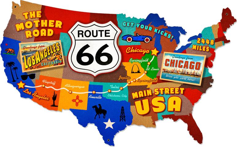 Mappa della Route 66