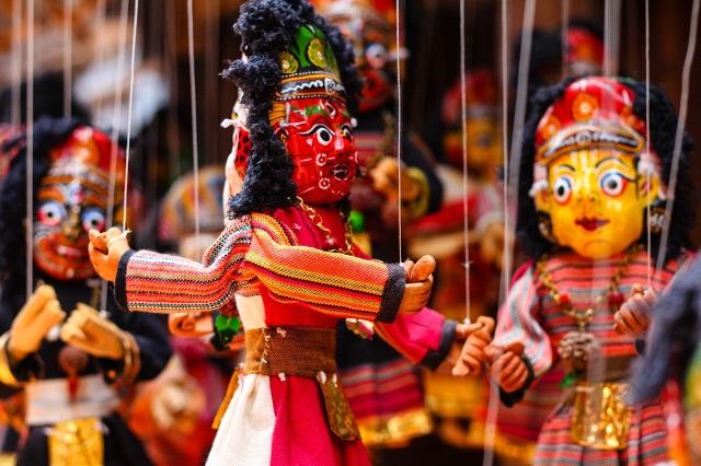 bambole di cartapesta nepalesi